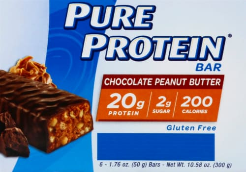 Pure Protein Chocolate Peanut Butter Bars Perspective: left