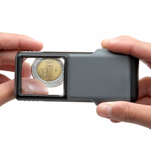 Carson MiniBrite 5x Power LED Lighted Aspheric Lens Magnifier Perspective: left
