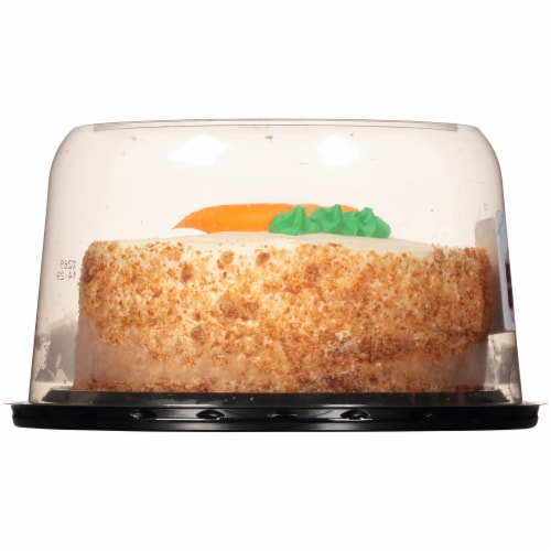 Carrot Cake with Cream Cheese Icing Perspective: left
