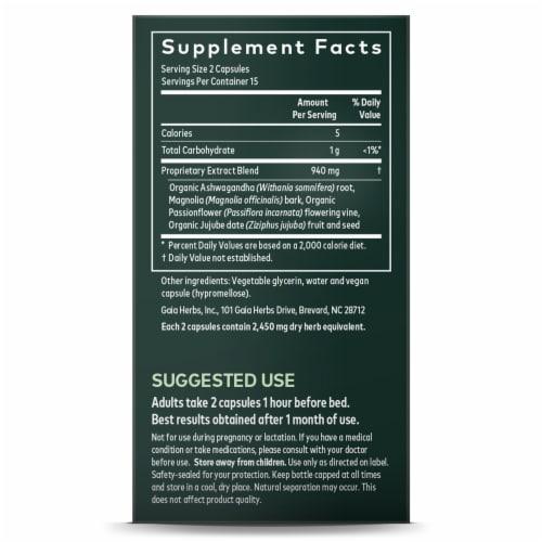 Gaia® Herbs SleepThru® Herbal Supplement Perspective: left
