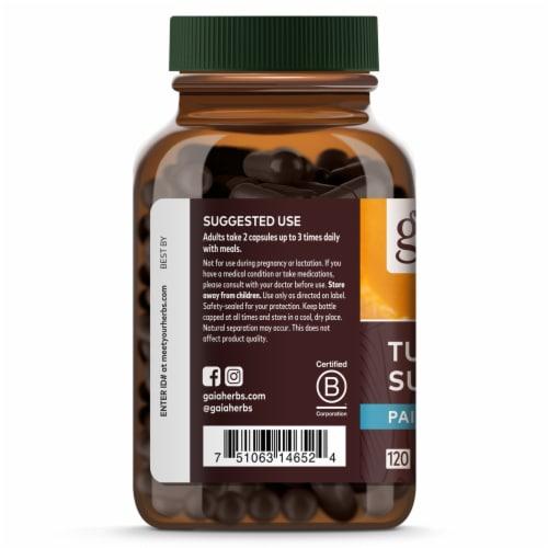 Gaia Herbs Curcumin Synergy Turmeric Supreme Pain Dietary Supplement Perspective: left