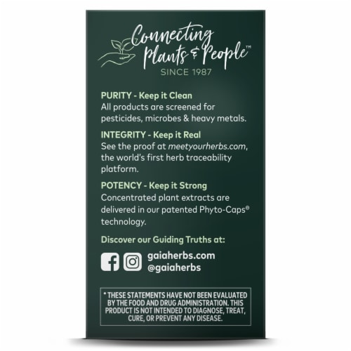 Gaia Herbs® Sound Sleep Vegan Liquid Phyto-Caps Perspective: left