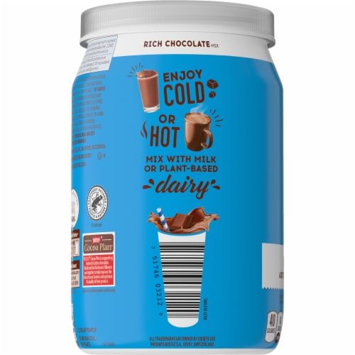 Ovaltine Rich Chocolate Flavored Milk Mix Perspective: left
