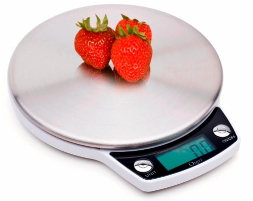Ozeri Precision Pro Stainless-Steel Digital Kitchen Scale with Oversized Weighing Platform Perspective: left