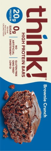 think! Brownie Crunch High Protein Bars Perspective: left