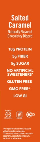 think! Lean Protein & Fiber Salted Caramel Bars Perspective: left