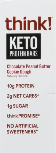 think!® Keto Chocolate Peanut Butter Cookie Dough Protein Bars Perspective: left