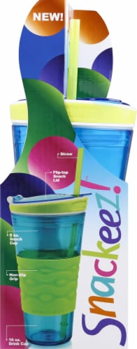 Idea Village Snackeez 2-in-1 Drink Cup Perspective: left