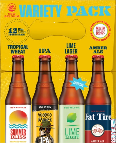New Belgium Folly Beer Variety Pack Perspective: left