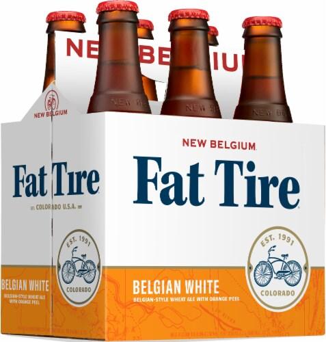 New Belgium Fat Tire Belgian White Beer Perspective: left
