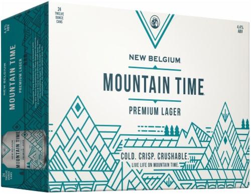 New Belgium Mountain Time Premium Lager Perspective: left
