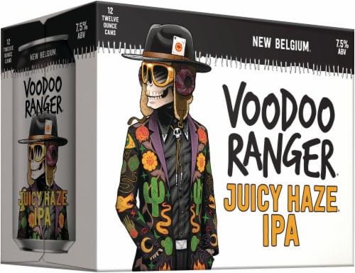 New Belgium Voodoo Ranger Juicy Haze IPA Perspective: left