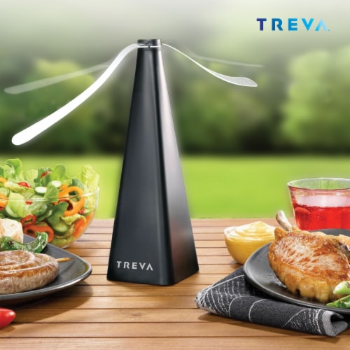 Treva Bug Repellent Fan, Non-Toxic, Battery Powered, 4 Pack Perspective: left