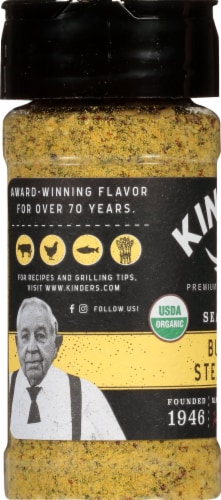 Kinder's Organic Buttery Steakhouse Seasoning Perspective: left