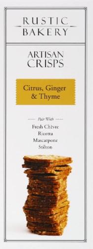 Rustic Bakery Citrus Ginger & Thyme Artisan Crisps Perspective: left