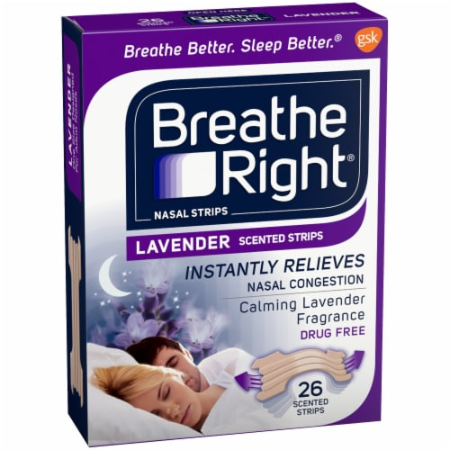 Breathe Right Lavender Scented Nasal Strips Perspective: left