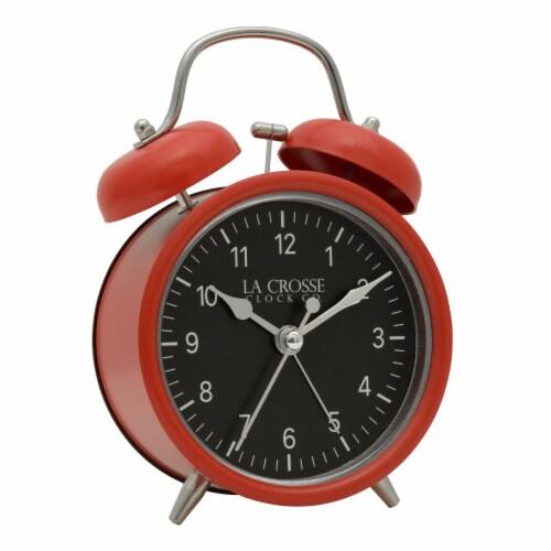 La Crosse Technology Twin Bell Alarm Clock - Red Perspective: left