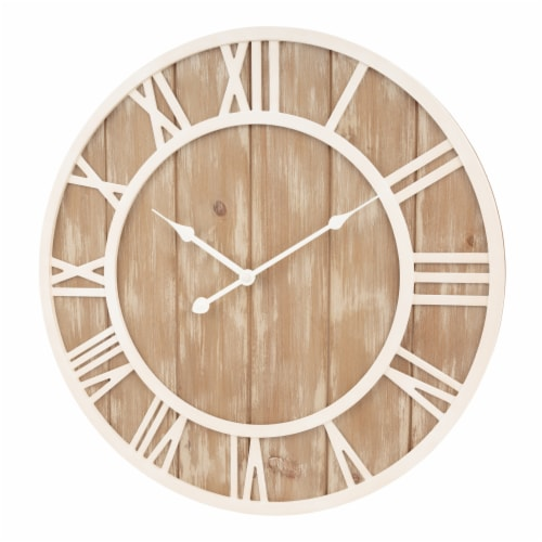 La Crosse Technology Wood Wall Clock - Off White Perspective: left