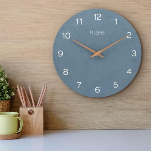 La Crosse Technology Paper Wall Clock - Blue Perspective: left