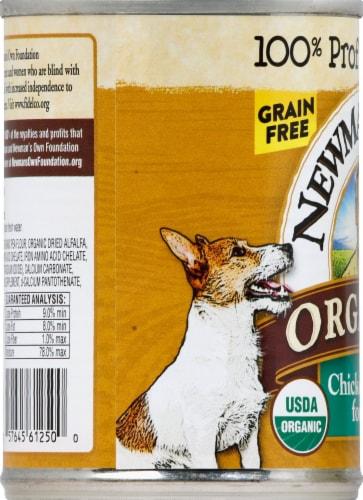 Newman's Own Organics Grain Free Chicken Dinner Premium Wet Dog Food Perspective: left