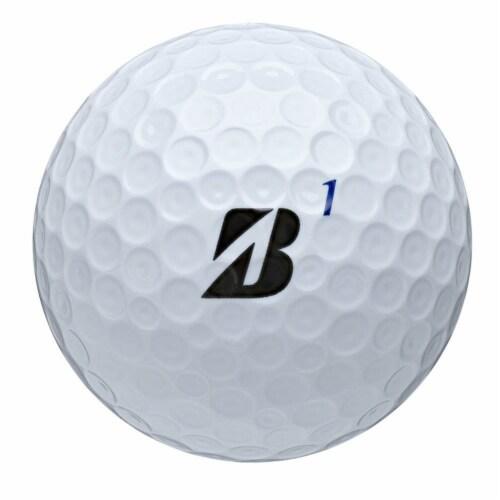 Bridgestone Tour B RXS Feel & Distance White Golf Balls Low Average Score, Dozen Perspective: left
