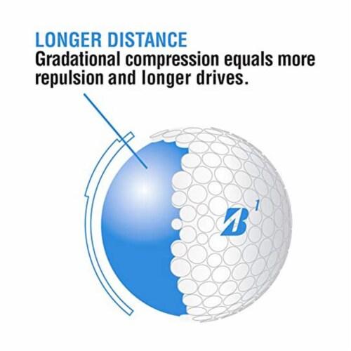 Bridgestone Golf Lady Precept Distance and Low Spin Golf Balls, Pink, 1 Dozen Perspective: left