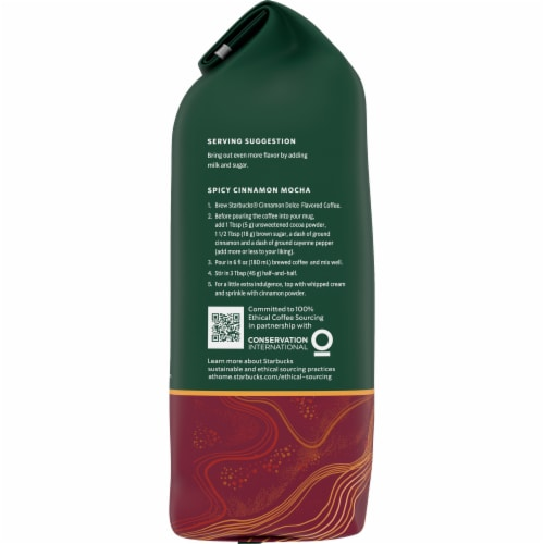 Starbucks Cinnamon Dolce Ground Coffee Perspective: left