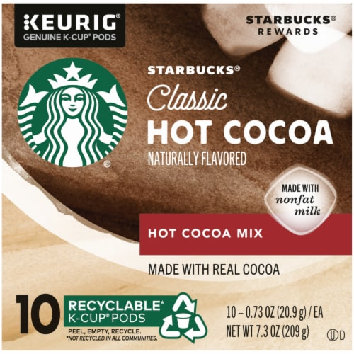 Starbucks Classic Hot Cocoa K-Cup Pods Perspective: left