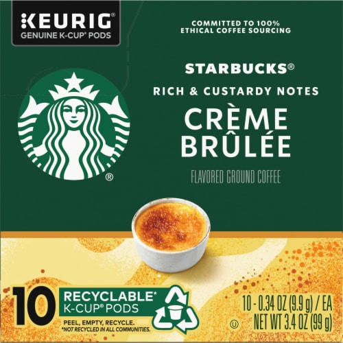 Starbucks Signature Collection Creme Brulee Flavored Ground Coffee K-Cup Pods Perspective: left