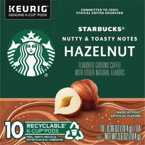 Starbucks Hazelnut Coffee K-Cup Pods Perspective: left