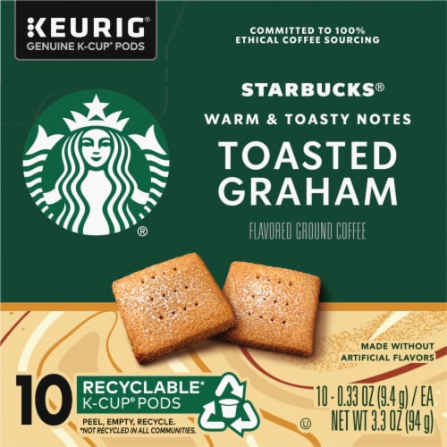 Starbucks Toasted Graham Ground Coffee K-Cup Pods Perspective: left