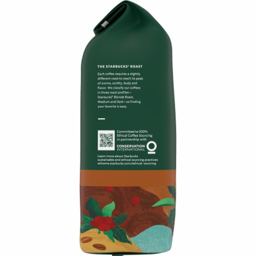Starbucks House Blend Medium Roast Whole Bean Coffee Perspective: left