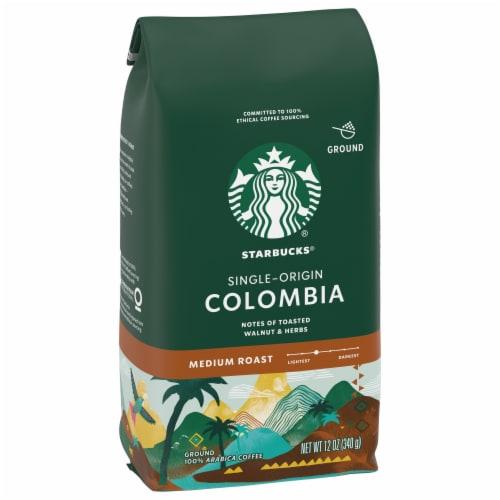 Starbucks Colombia Single-Origin Medium Roast Ground Coffee Perspective: left