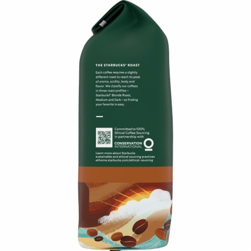 Starbucks Breakfast Blend Medium Roast Whole Bean Coffee Perspective: left