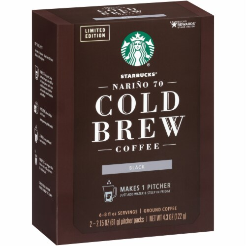 Starbucks Cold Brew Ground Coffee Pitcher Packs Perspective: left