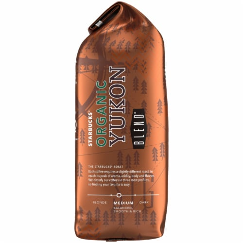 Starbucks Organic Yukon Blend Medium Roast Ground Coffee Perspective: left
