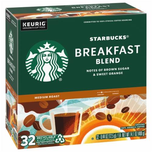 Starbucks Breakfast Blend Medium Roast Ground Coffee K-Cup Pods Perspective: left