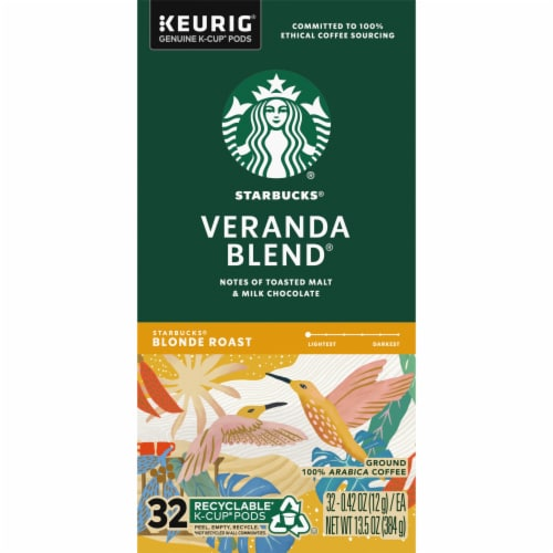 Starbucks Veranda Blend Blonde Roast Ground Coffee K-Cup Pods Perspective: left