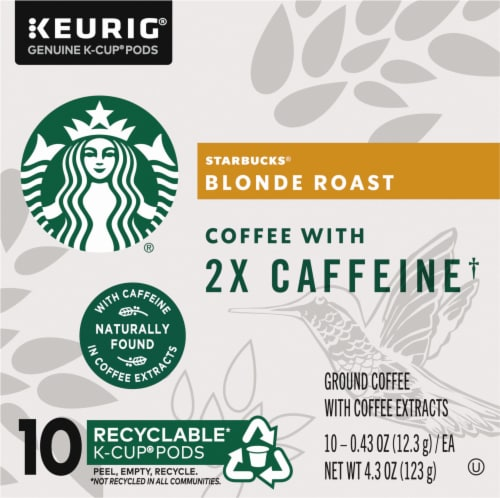Starbucks Plus Blonde Roast Coffee K-Cup Pods Perspective: left