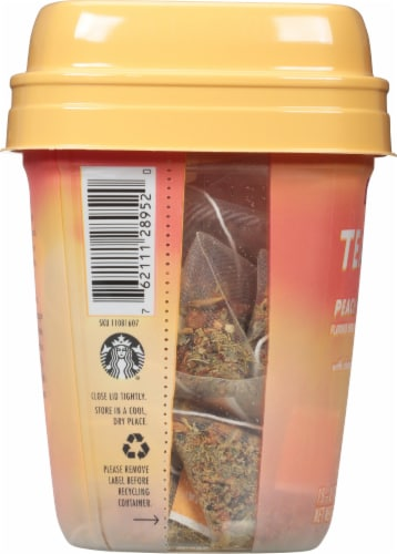 Teavana Peach Tranquility Herbal Tea Sachets Perspective: left