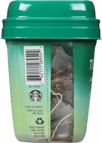 Teavana Jade Citrus Mint Green Tea Blend Sachets Perspective: left