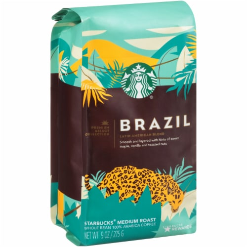 Starbucks Brazil Medium Roast Whole Bean Coffee Perspective: left