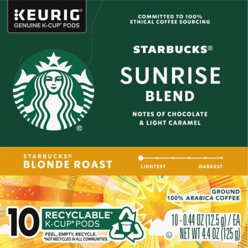 Starbucks Blonde Sunrise Blend K-Cup Pods Perspective: left