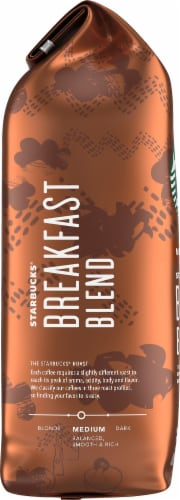 Starbucks Breakfast Blend Medium Roast Whole Bean Coffee Perspective: left