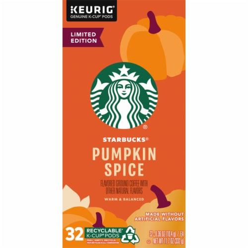 Starbucks® Pumpkin Spice Flavored Ground Coffee K-Cup Pods Perspective: left