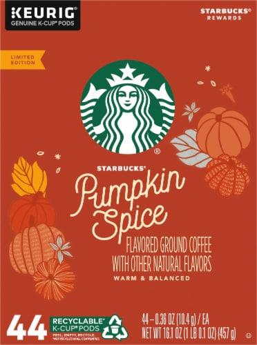Starbucks® Pumpkin Spice Ground Coffee K-Cup Pods Perspective: left
