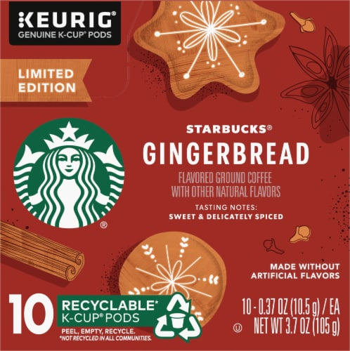 Starbucks Gingerbread Coffee K-Cup Pods Perspective: left