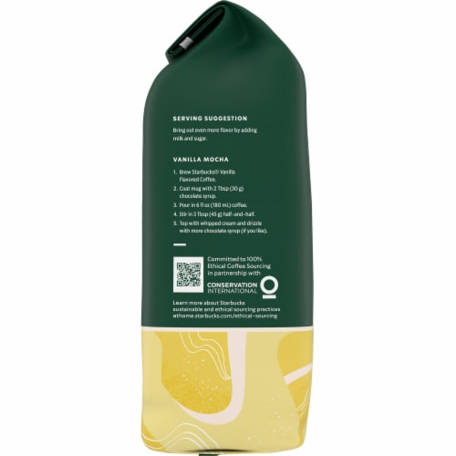 Starbucks Vanilla Flavored Ground Coffee Perspective: left