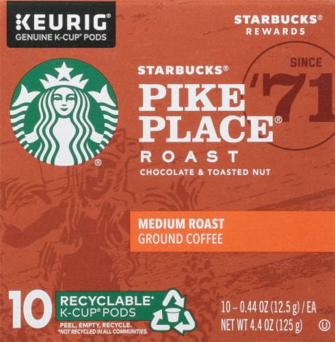 Starbucks Pike Place Medium Roast Coffee K-Cup Pods Perspective: left
