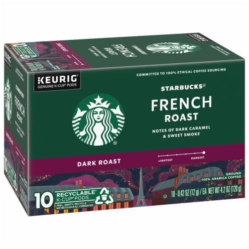 Starbucks® French Roast Dark Roast Coffee K-Cup Pods Perspective: left